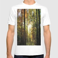 Golden October Mens Fitted Tee White SMALL