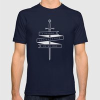 Allegiance Mens Fitted Tee Navy SMALL