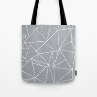 Abstract Dotted Lines Gr… Tote Bag
