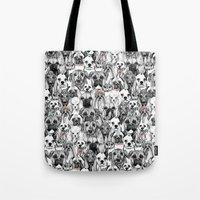 Just Dogs Coral Mint Tote Bag