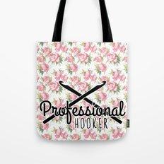 funny crochet vintage floral professional hooker Tote Bag