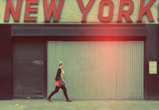 new york girl in Dublin Art Print