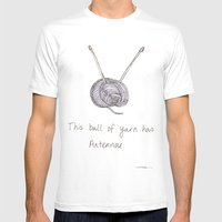 This Ball of Yarn has Antennae. Mens Fitted Tee White SMALL