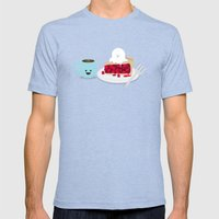 Coffee And Pie Mens Fitted Tee Tri-Blue SMALL