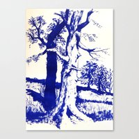 Canvas Print featuring Trees by One Pepinillo