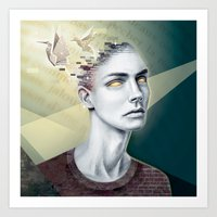 Paper Birds Dream Art Print