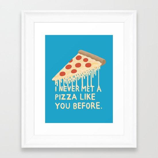 Sweet Pizza Framed Art Print
