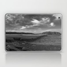 Sky and Marsh Black and white Laptop & iPad Skin