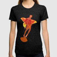 You Should Treat Your Muse Like A Fairy Womens Fitted Tee Tri-Black SMALL