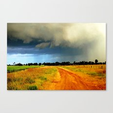 Tracking a Storm Canvas Print