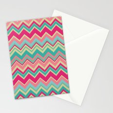 Aztec chevron pattern- pink & cream Stationery Cards