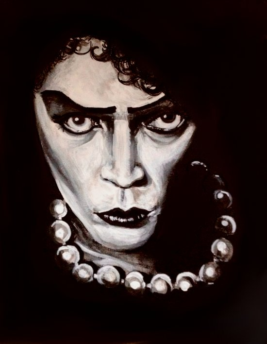 """Rocky Horror Picture Show """"Sweet Transvestite"""" Canvas Print"""