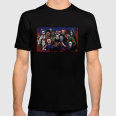 Horror Villains Selfie Mens Fitted Tee Black SMALL