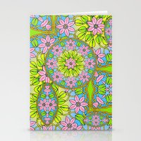Color Me Spring Mandala Stationery Cards