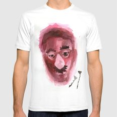 Sad & Clown SMALL White Mens Fitted Tee