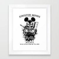 Sinister Minds. Mickey Framed Art Print