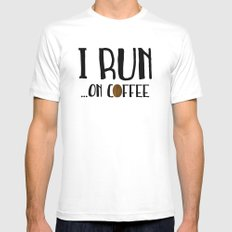 I Run ... On Coffee Mens Fitted Tee White SMALL