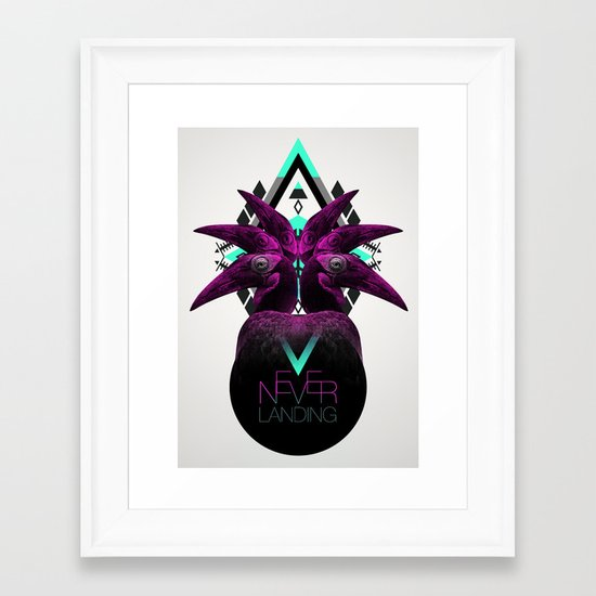 ::Never Landing:: Framed Art Print