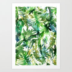 VIBE of the Jungle  {A-green} Art Print