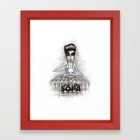 i don't like SOPA Framed Art Print