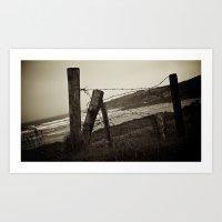 Fences And Defences. Art Print