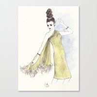 'Alice' Watercolor Fashi… Canvas Print