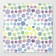 Dots purple and green Canvas Print