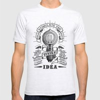Idea Mens Fitted Tee Ash Grey SMALL