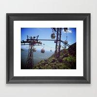 Fast Lane | Trolley Framed Art Print