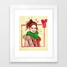 Yoona Framed Art Print