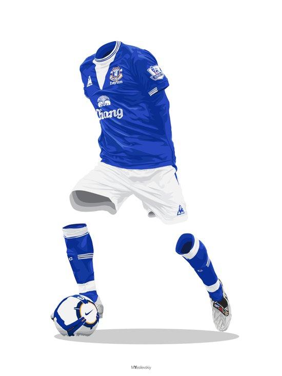 Everton 2009/10  Art Print
