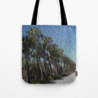 Infinite Palm Trees Tote Bag