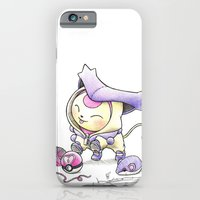 iPhone Cases featuring Curiosity Thrilled the Cat by Randy C