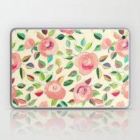 Pastel Roses in Blush Pink and Cream  Laptop & iPad Skin