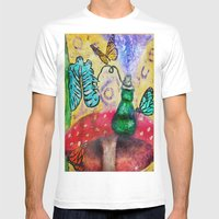 Alice In Wonderland Blue… Mens Fitted Tee White SMALL
