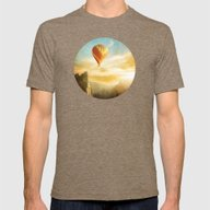 Flying Over The Morning … Mens Fitted Tee Tri-Coffee SMALL