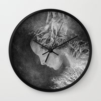 Dark Portrait II Wall Clock