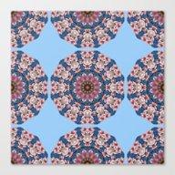 Floral Mandala-style, Sp… Canvas Print