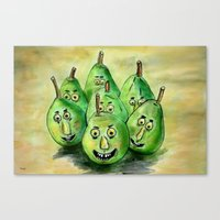 The Pear-parade Canvas Print