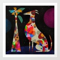 HOUND & VASE Art Print