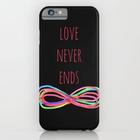 Love Never Ends  (black) iPhone 6 Slim Case