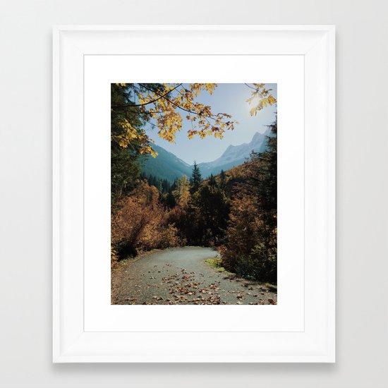 Washington Fall Rd Framed Art Print