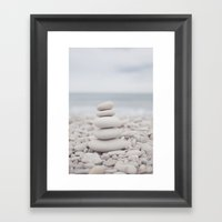 Zen sea Framed Art Print