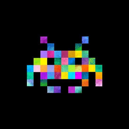 Cubist Invader Canvas Print