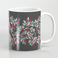 Minty Pinky Branches Mug