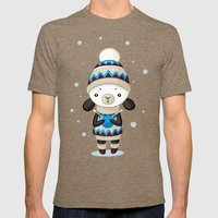 Sheep Mens Fitted Tee Tri-Coffee SMALL