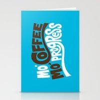 Mo' Coffee Mo' Progress Stationery Cards