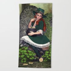 Leprechaun Lass Beach Towel