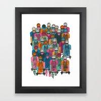Pack (Peloton) Framed Art Print