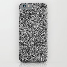 grayscale treemap mosaic - high contrast iPhone 6s Slim Case